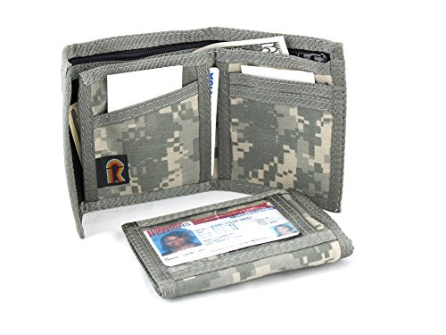 - Original Bifold ID Window Hook n Loop Wallet - US Army ACU Digital Camouflage