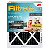 3m filtrete carbon - Filtrete Allergen Defense Odor Reduction AC Furnace Air Filter, Attracts Small Particles, MPR 1200, 16 x 20 x 1, 2-Pack
