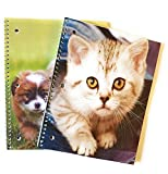 Animal Babies Wide-Ruled Spiral Notebooks - Set of 2 (Kittens&Puppies)