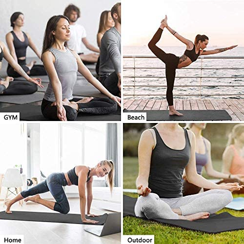 "Walsai Non Slip Yoga Mat, Fitness Exercise Mat with Carrying Strap, Pro Yoga Mats for Women,Workout Mats for Home, Pilates and Floor Exercises (72""X24""X1/4"")"