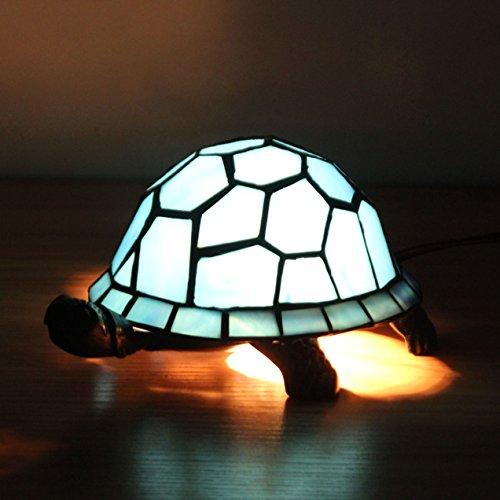 Tiffany Mini Turtle - Tiffany Style European Creative Blue Turtle Tortoise Cuckold Table Lamp Children's Lamp Night Light