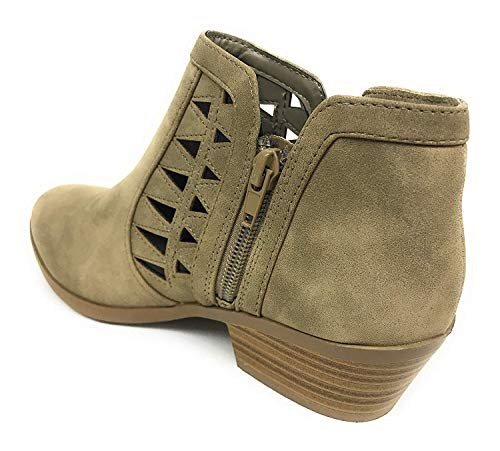 Light Dist Soda Strap Chance Taupe Multi Closed Toe Bootie Women's Ankle 6B6qz