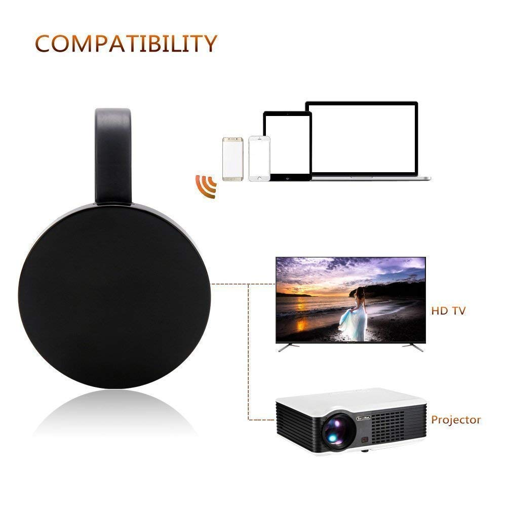 2.4G WiFi Dongle Adaptateur daffichage 1080P HD // iPhone X S Max /… Android Airplay Chromecast TV ATETION Adaptateur daffichage sans Fil 5G Miracast pour MacBook
