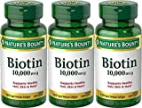 Nature's Bounty Biotin 10,000 mcg, 360 Softgels (3 X 120 Count Bottles)