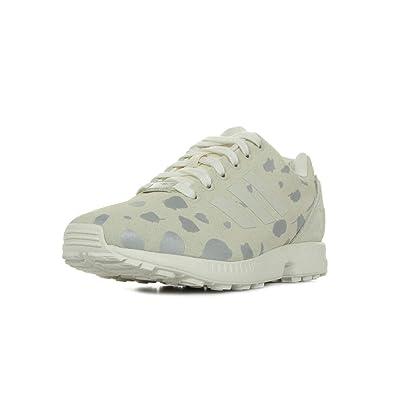 half off 32cdd 07531 ADIDAS Originals Womens Zx Flux w Fashion Sneaker, Off  WhiteLegacyMetallic Silver