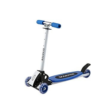 niceao Niños Scooter Patinete plegable de altura regulable 4 ruedas City Roller Scooter plegable y regulable en altura para niños