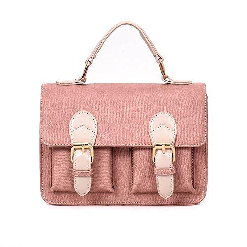 Woman incense Bolsa De Hombro Bolso De Dama Color Pequeño Cartero,Brown Pink