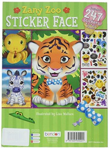 Bendon Zany Zoo Sticker Face Activity Book
