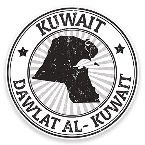 Kuwait Flag Vinyl Sticker Decal Laptop Car Bumper Sticker Travel Luggage Car iPad Sign Fun 5
