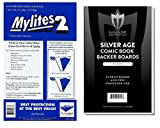 SUPER TEAM-UP! (50) Gerber Standard Size Mylites 2 Comic Book Mylar Sleeves PLUS SILVER Boards by Max Pro (Qty= 50 M2's and 50 Boards)