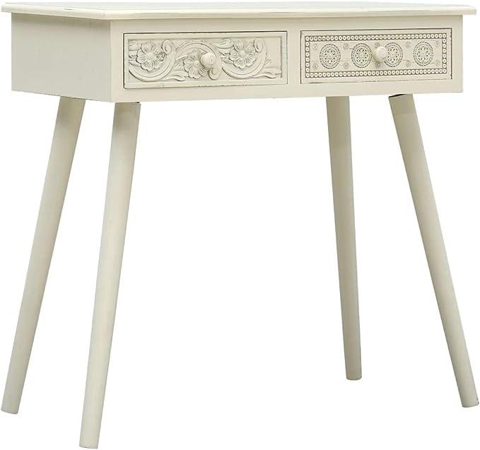 80 x 40 x 74 cm Tavolo consolle in Legno Colore: Bianco vidaXL