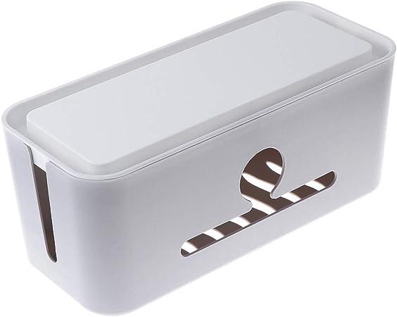 TOPBATHY Caja de línea de Cable de alimentación antichoque de plástico Línea de Enchufe Caja (Gris - Cubierta Blanca): Amazon.es: Hogar