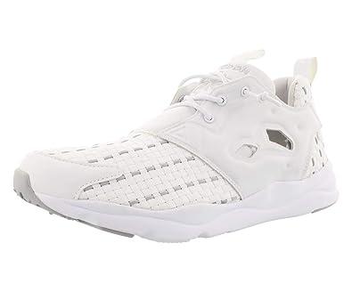 830361dfabbb9 Reebok Lifestyle Women s Furylite New Woven White Steel Sneaker 5.5 B ...