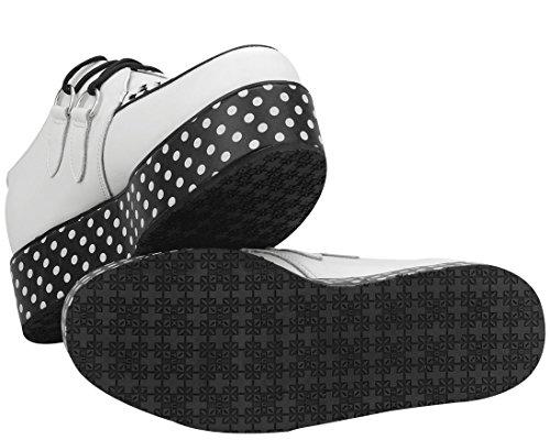 TUK Yo Creeper Wraps Ladies Shoes While Polka Dot