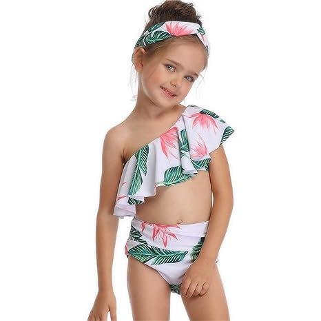 Traje de Baño Niña, Bikini con traje de baño de dos piezas ...