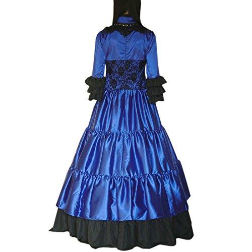 Partiss Damen Square Hals Choker Ballkleid Rock Prom Kleid Maskerade ...