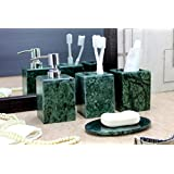 KLEO   Bathroom Accessory Set Made From Natural Stone   Bath Accessories  Set Of 4 Includes
