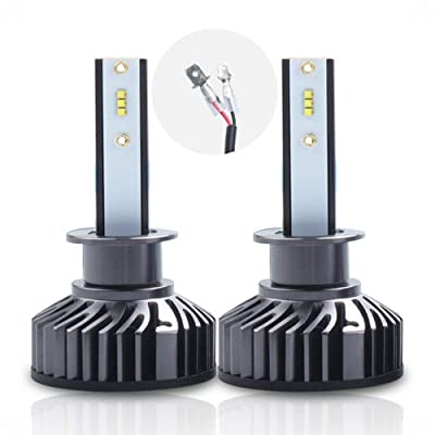 LED Headlight Bulbs Conversion Kit 16,000Lm/Pair, 6000K, Pack of 2 (H1): Automotive
