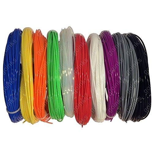 Arco Iris – Paquete con impresora 3d filamento – 0.5 Kg (500g)/pla/3.00 mm – 10 colores