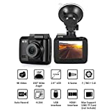 Car Dash Cam Recorder ONEVER 4K WiFi Dash Camera Lens 2.4 inch LCD 4MP Car Dashboard Camera Recorder with 150 Degree Wide Angle, Night Vision, Loop Recording, Parking Monitor, G-sensor