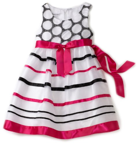Bonnie Jean Little Girls' Organza Ribbon Trim Dress
