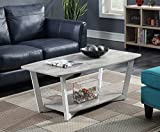 Convenience Concepts 111282GYWF Graystone Stone Coffee Table Gray/White
