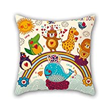 Zoo Throw Pillow Case 18 X 18 Inches / 45 By 45 Cm Best Choice For Shop Kitchen Home Theater Living Room Club Gf With Twice Sides