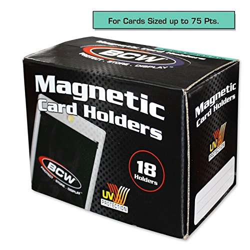 - Box of 18 BCW Magnetic Card Holders - 75 Pt.