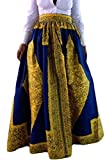 Dearlovers Women Casual High Waisted African Floral Print A Line Maxi Long Skirt with Pockets