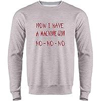 Now I Have a Machine Gun HO-HO-HO Christmas Mens Fleece Crew Sweatshirt