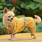 MINHUNG Puppy Pet Dog Cool Raincoat Glisten Bar Hoody Waterproof Lovely Rain Jacket (XS)