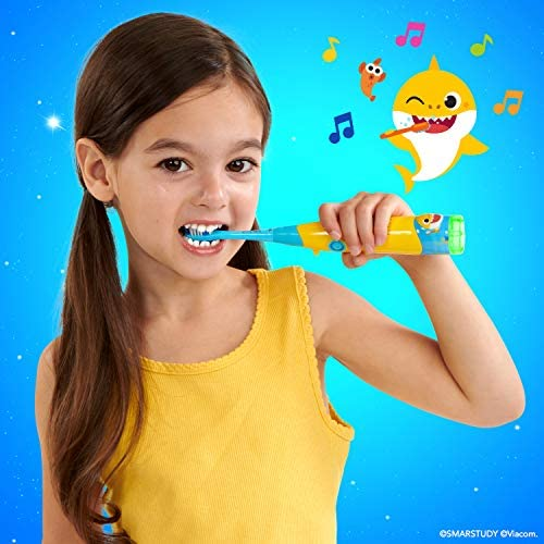 51BTsX0nQ5L. AC - BriteBrush - Interactive Smart Kids Toothbrush Featuring Baby Shark