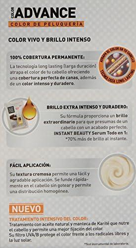 Llongueras Advance Tinte de Cabello Permanente Tono #1 Negro ...