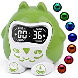 White Noise Machine, Sleep Therapy for Kids Seniors, Bedroom Wake Up Alarm Clock with 9 Natural Sounds, 7 Night Lights, Dimmable, Battery/Outlet Operated, 12/24H DST Fun Expressions Snooze Sleep Timer