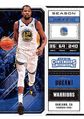 - 2018-19 Panini Contenders Draft Picks Basketball Season Ticket Variation #32 Kevin Durant Golden State Warriors Official NBA Trading Card