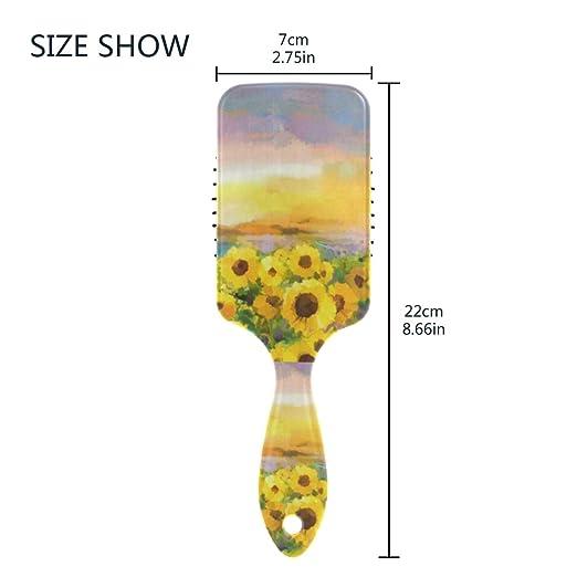 Amazon com : Hair Brush Paddle Brush Oil Painting Yellow