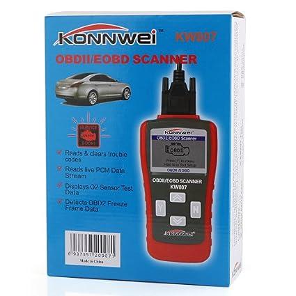 konnwei KW807 multifunción escáner OBD ¢ ò EOBD código lector lectura decodificador - rojo: Amazon.es: Electrónica