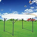 INTEROUGE Table Pliante Ronde table de jardin Table camping Dia 150cm Polyéthylène