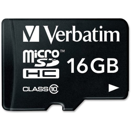 "Verbatim America, Llc - Verbatim 16Gb Microsdhc Card (Class 10) W Adapter - Class 10 - 1 Card/1 Pack ""Product Category: Memory/Memory Cards"""