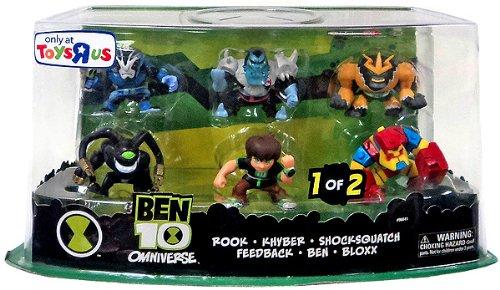 Exclusive Ben 10 Super Deformed Action Figure Set 1, 6-pack (Ben, Rook, Khyber, Bloxx, Feedback, Shocksquatch)