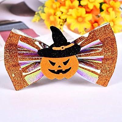 Cute Halloween Ghost Spider Pumpkin Bow Hair Clip Hair Accessories Kids For J8K8