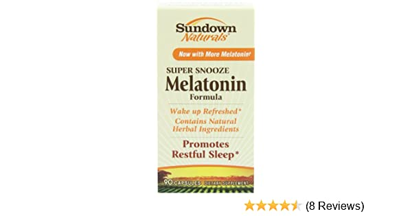 Amazon.com: Sundown Naturals Super Snooze Melatonin Formula 90 Capsules (Pack of 2): Health & Personal Care