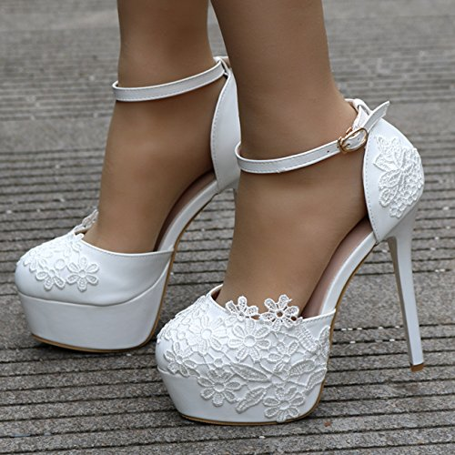 Heel Minitoo blanc femme White Plateforme 14cm xOXBqX0rvw