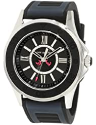Juicy Couture Womens 1900875 Rich Girl Black Jelly Strap Watch