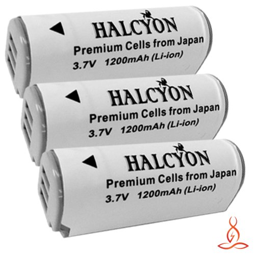 Three Halcyon 1200 mAH Lithium Ion Replacement NB-9L Batteries + Memory Card Wallet + SDHC Card USB Reader + Deluxe Starter Kit for Canon Powershot SD4500 IS, Powershot ELPH 510 HS, Powershot ELPH 520 HS, Powershot ELPH 530 HS, Powershot N Digital Camera  by Halcyon