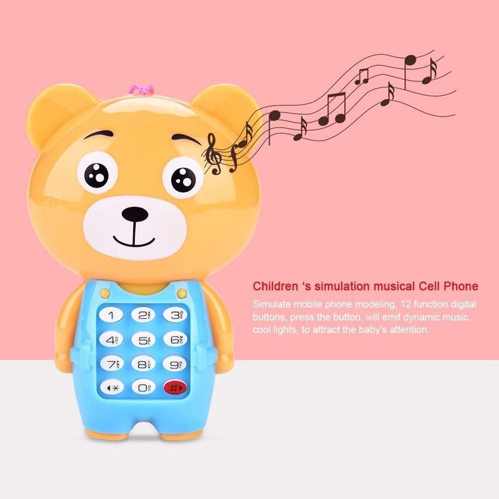 Egosy Baby-Karikatur-Musik-Telefon mit Liedern S/ätzen und blinkenden Lichtern Tierchen Lernhandy Spielzeug-Telefon-Geschenk Lernspa/ß Lernspielzeug