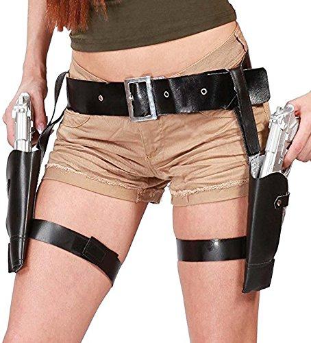 Sofias Closet Fancy Dress Holster And Prop Guns Set Lara Croft Cowgirl Tomb Raider Adventurer