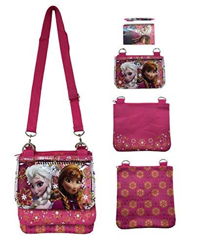 Disney Frozen Elsa Pink Adjustable Strap Messenger Shoulder Cross Purse Bag -