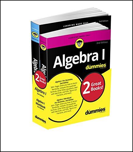 Algebra I Workbook For Dummies with Algebra I For Dummies 3e Bundle