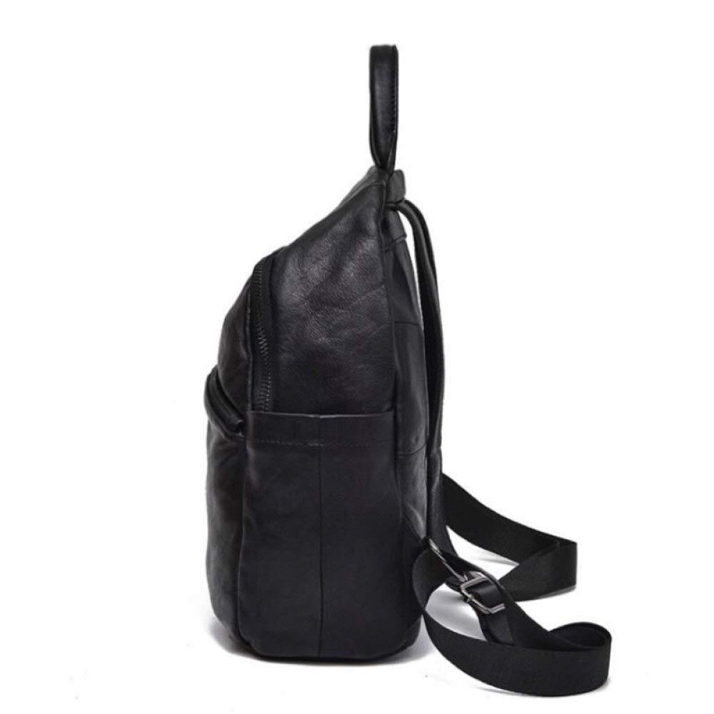 POUPDM Ryggsäck för kvinnor äkta läder ryggsäck kvinnlig lyx svart riktiga resor ryggsäckar ledig ryggsäck kvinnor ryggsäck Brun